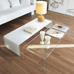 2 Colors Bent Glass Coffee Table