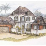New Orleans Style Home Plans Sketch