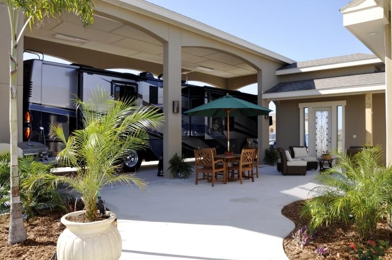 Rv port home floor plans for Rv port homes