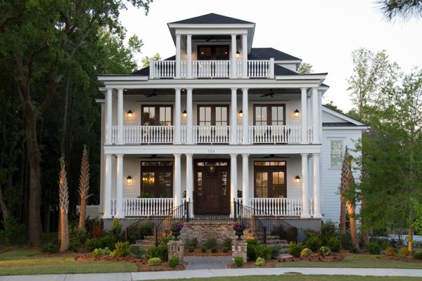 Full porch house plans house design plans for Charleston style home floor plans
