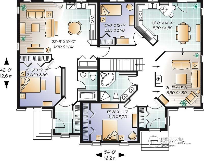 Multi Family House Plan Multi Family Home Plans House