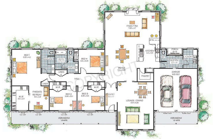 Home design floor plan for Big family house floor plans