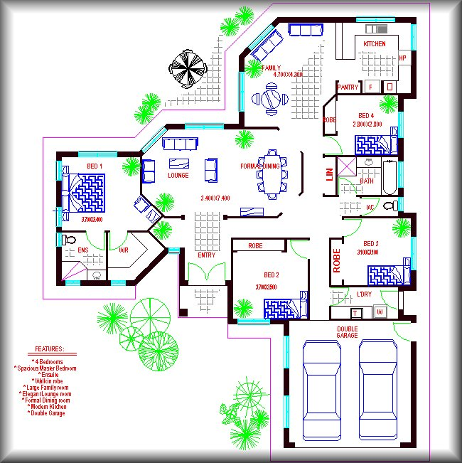 Modern family home plans house design plans for Www familyhomeplans com