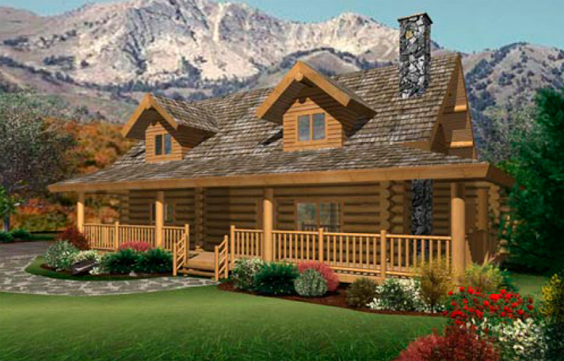 Ranch log homes floor plans bee home plan home for Log home house plans designs