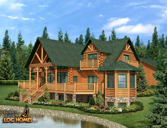 One Story Log Home