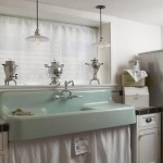 Contemporary Vintage Laundry Room With White Cabinets