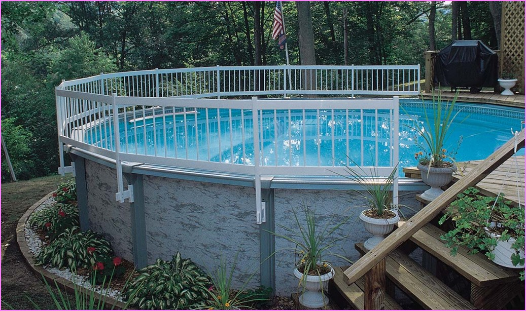Backyard Landscaping Around Above Ground Pool : Landscaping around above ground pools bee home plan
