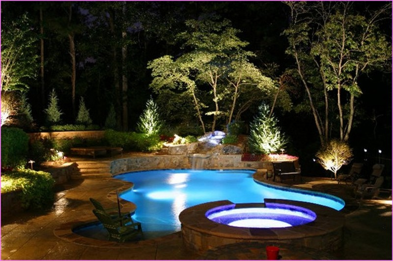 landscape lighting ideas for your pool - bee home plan | home