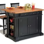 Black Kitchen Island Completed By Back Chairs 2