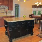 Black Kitchen Island Completed By Back Chairs 3