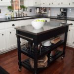 Black Kitchen Island Completed By Back Chairs 4