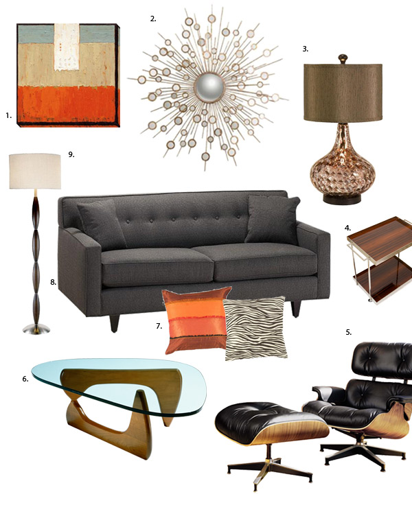 Mad men inspired home decorating bee home plan home for Mens living room decorating ideas