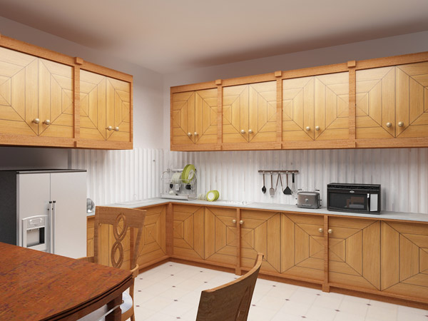 Simple kitchen designs in india for elegance cooking spot for Simple kitchen cabinet designs