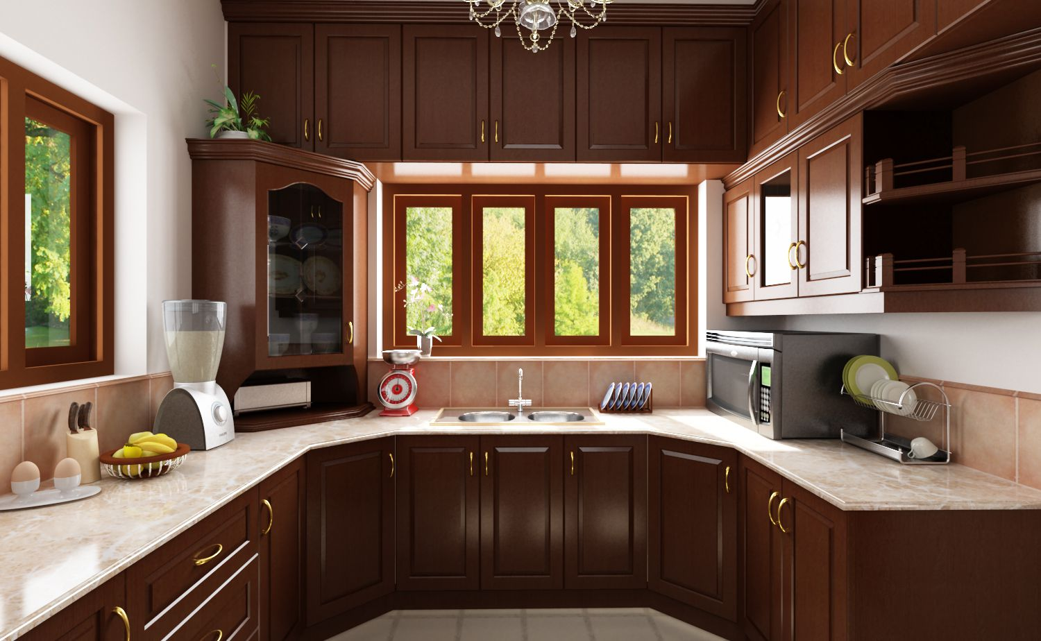 Simple kitchen designs in india for elegance cooking spot for Indian house kitchen design