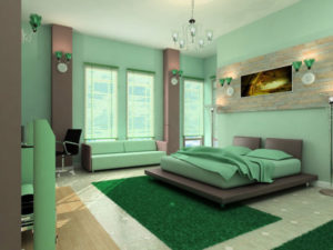 When considering bedroom color schemes for your bedroom, equal importance should be given to painting your furnitures as well. One can pay a visit to a store which deals with bed ensembles and check out the different bedroom paint colors available. This can give a clear idea on how your bedroom and its color scheme will look along with your furniture and other accessories.An important thing to remember before selecting the bedroom wall color is that the primary objective of a bedroom is that it is used for sleeping. Choose colors from among such well-known color collections as California Paints Millennium, PPG, Behr, Benjamin Moore, Sherwin Williams, Colortrend, RAL, Sikkens, ICI Paints, Symphony and others (115 different sets, more then 57,000 colors).