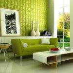 Contemporary Green Living Room Decorating Ideas