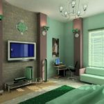 Contemporary Green Living Room Decorating Ideas2