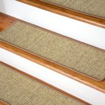 Stair Adorable Image Of Rectangular Light Brown Wool No Slip Treads For Stairs As Accessories