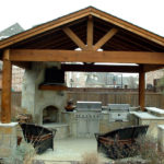 Outdoor Kitchen Roof Design 1