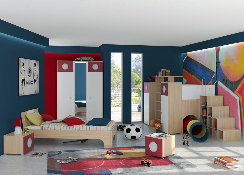 Contemporary Child Room for summer