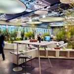 Modern Work Office With Beautiful Greenery