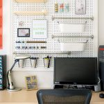 Peg Creative DIY Office Desk Organization
